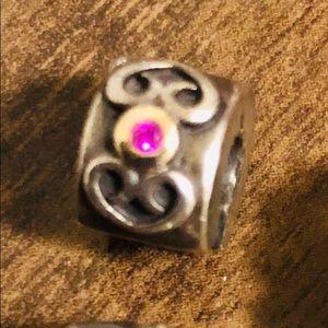 Pandora Pink CZ Clip 💗